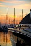 Luxury motor yacht Stock Photo