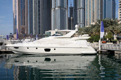 Luxury Motor Yacht in Dubai Stock Photos