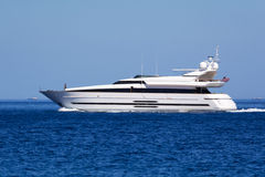 Luxury motor yacht Stock Images