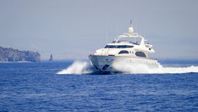 Luxury motor yacht Stock Photos