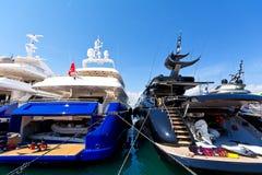 Luxury motor-yachts Royalty Free Stock Image