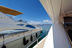 Luxury motor yachts Royalty Free Stock Photo