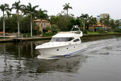 Luxury Motorboat. Captured in exclusive part of Fort Lauderdale, Florida stock photo