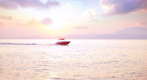 Luxury motorboat Royalty Free Stock Photos