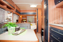 Luxury Motorhome. New Luxury Motorhome, Campervan with Kitchen Royalty Free Stock Image