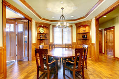Luxury mountain home diining room Royalty Free Stock Image