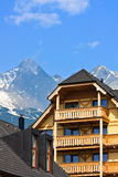Luxury mountain hotel resort Royalty Free Stock Image