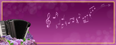 Luxury music banner Royalty Free Stock Image