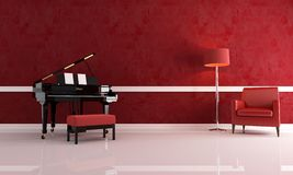 Luxury music room Stock Photography