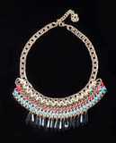 Luxury necklace on black stand Royalty Free Stock Photo