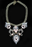Luxury necklace on black stand Stock Photos