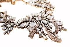 Luxury necklace, studio shot, isolated on white Stock Photos