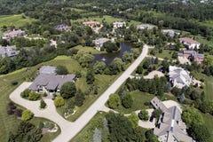 Luxury Neighborhood Aerial Royalty Free Stock Images