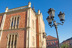 Luxury neo-romantic palace. Luxury Episcopal Palace in Novi Sad is located at the end of the central street. The palace is the seat of ecclesiastical authority stock photo