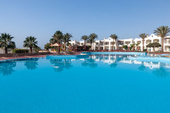 Luxury nice hotel swimming pool in the Egypt Stock Images