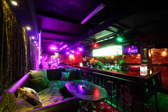 Luxury night club in european style Royalty Free Stock Images
