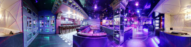 Luxury night club in european style Royalty Free Stock Photo