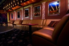 Luxury night club interior. Picture of a Luxury night club interior Stock Photos