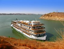 Luxury Nile Cruise at Abu Simbel, Egypt Stock Photos