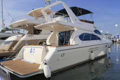Luxury novatek 52 yacht rear view Royalty Free Stock Photos