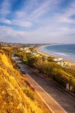 Oceanfront homes of Malibu beach in California. Luxury oceanfront homes of Malibu beach near Los Angeles, California Royalty Free Stock Images