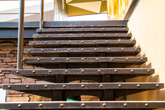 Outdoor stairs interior decoration royalty free stock images