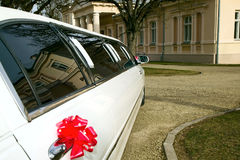 Luxury old limousine for the wedding Royalty Free Stock Image