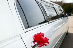 Luxury old limousine for the wedding Stock Photography
