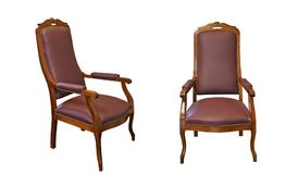 Luxury old and vintage wooden armchairs Royalty Free Stock Photos
