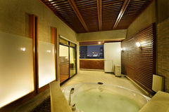 Luxury open air bathroom royalty free stock photo