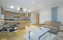 Luxury open plan apartment Stock Photos