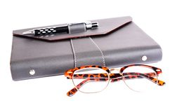 Luxury organizer with Glasses Royalty Free Stock Photography