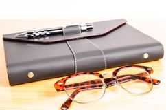 Luxury organizer with Glasses Stock Images