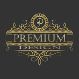 Luxury ornament floral design logo. Luxury ornament floral design logo, decorative template, heraldic, business, decorative ornament fashion sign. vector Stock Photo