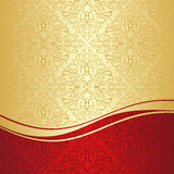 Luxury ornamental Background: gold and red. Stock Images