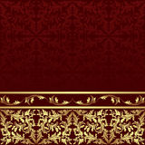 Luxury ornamental Background with golden floral Border Stock Image