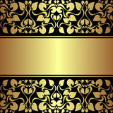 Luxury ornamental Background with golden ribbon. Royalty Free Stock Photography