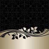 Luxury ornamental Background with silver Border. Royalty Free Stock Photo
