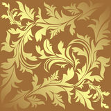 Luxury ornamental golden Background. Stock Photography