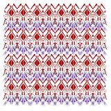 Luxury ornaments Fashion mandalas RED BLUE. Luxury authentic Mandalas PURPLE RED Folk ornaments on white. Ethnic collection 2017 Royalty Free Stock Image