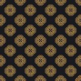 Luxury ornate abstract background in colors of gold and black. Ethnic vector seamless pattern in aztec style. Abstract background in colors of gold and black vector illustration