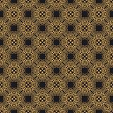 Luxury ornate abstract background in colors of gold and black. Ethnic vector seamless pattern in aztec style. Abstract background in colors of gold and black royalty free illustration