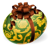 Luxury Ornate Easter Egg With Bow Stock Photos