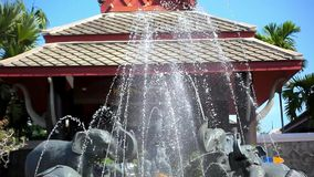 Luxury Outdoor Fountain with sculptures of Stock Image