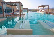 Luxury Outdoor Pool Spa Royalty-vrije Stock Foto