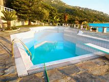 Luxury outdoor Pool,Travel, Vacation, Relaxation, Background Royalty Free Stock Image