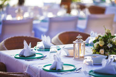 Luxury outdoor restaurant Royalty Free Stock Images