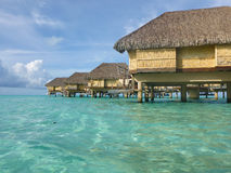 Luxury overwater villas Royalty Free Stock Photos