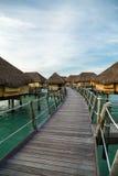Luxury overwater villas Royalty Free Stock Photo