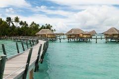 Luxury overwater villas Royalty Free Stock Image